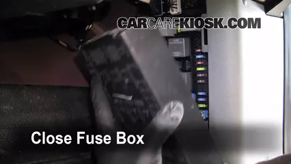 interior fuse box location: 2004-2008 ford f-150 - 2007 ford f-150 xl 4 2l  v6 standard cab pickup (2 door)