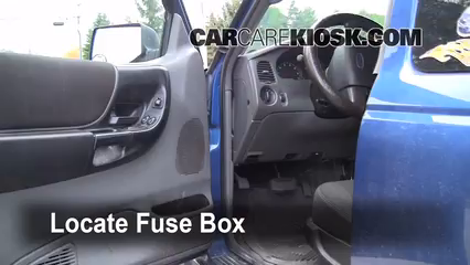 Interior Fuse Box Location 2006 2011 Ford Ranger 2007