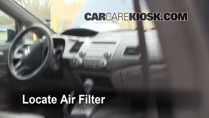 Cabin Filter Replacement: Honda Civic 2006 2011