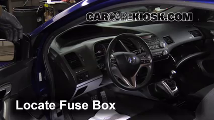 interior fuse box location 2006 2011 honda civic 2007 honda civic rh carcarekiosk com 2006 honda civic fuse box diagram 2006 honda civic interior fuse box diagram