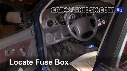 interior fuse box location 2004 2008 hyundai atos prime Hyundai Sonata Fuse Box