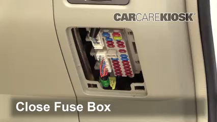 interior fuse box location: 2004-2010 infiniti qx56 - 2005 infiniti qx56  5 6l v8