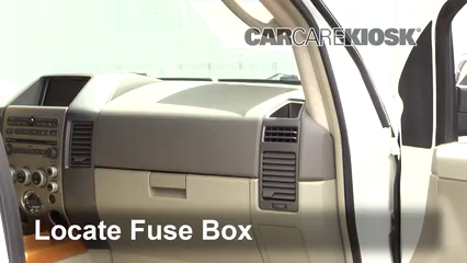 Interior Fuse Box Location: 2004-2010 Infiniti QX56 - 2005 Infiniti