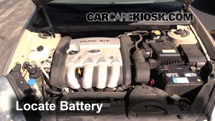 2007 Kia Optima EX 2.4L 4 Cyl. Battery Clean Battery & Terminals