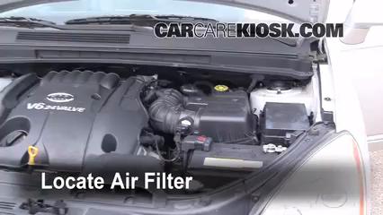 2007 2010 Kia Rondo Engine Air Filter Check