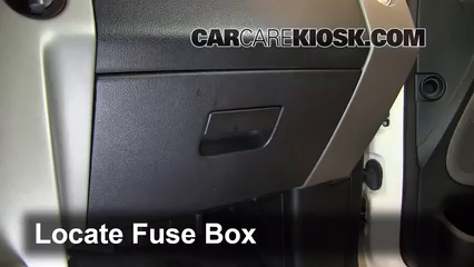 interior fuse box location: 2006-2015 lincoln mark lt