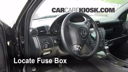interior fuse box location 2001 2007 mercedes benz c230 2007 mercedes benz c230 sport 2 5l v6. Black Bedroom Furniture Sets. Home Design Ideas