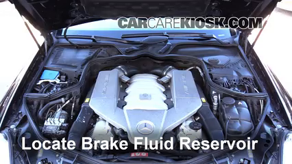 2007 Mercedes-Benz CLS63 AMG 6.3L V8 Brake Fluid Add Fluid