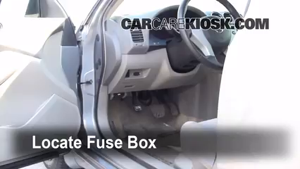 interior fuse box location 2007 2013 nissan altima 2007 nissan 2009 nissan altima owners manual locate interior fuse box and remove cover