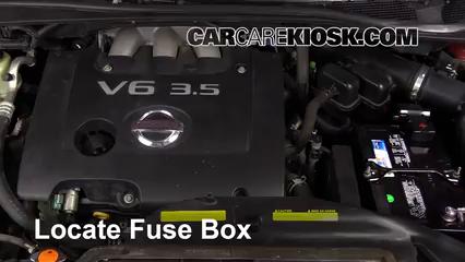 Replace a Fuse: 2004-2009 Nissan Quest - 2007 Nissan Quest 3 5L V6