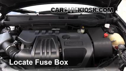 3  remove cover locate engine fuse box and remove cover