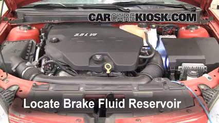 2005-2010 pontiac g6 brake fluid level check