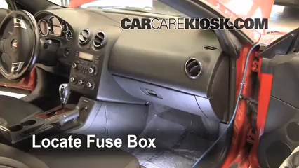 interior fuse box location 2005 2010 pontiac g6 2007 pontiac g6 2006 g6 fuse box locate interior fuse box and remove cover