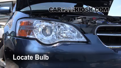 2007 Subaru Legacy 2.5i Special Edition 2.5L 4 Cyl. Sedan Lights Headlight (replace bulb)