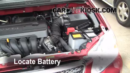 2007 Toyota Corolla CE 1.8L 4 Cyl. Battery Replace