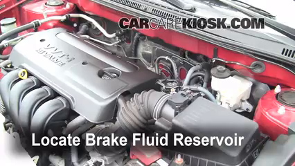 2007 Toyota Corolla CE 1.8L 4 Cyl. Brake Fluid Check Fluid Level
