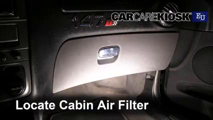 2007 Alfa Romeo 147 T.Spark 1.4L 4 Cyl. Filtre à air (intérieur)