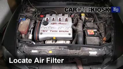 2007 Alfa Romeo 147 T.Spark 1.4L 4 Cyl. Filtre à air (moteur)