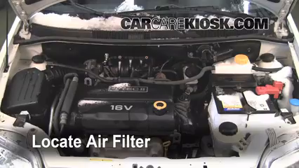 2007 Chevrolet Aveo5 Special Value 1.6L 4 Cyl. Filtro de aire (motor)
