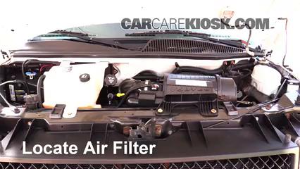 2007 Chevrolet Express 3500 LS 6.0L V8 Standard Passenger Van (3 Door) Air Filter (Engine) Replace