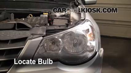 2007 Chrysler Sebring Limited 2.4L 4 Cyl. Luces Luz de giro delantera (reemplazar foco)