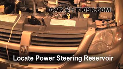 2007 Dodge Grand Caravan SXT 3.8L V6 Fluid Leaks Power Steering Fluid (fix leaks)