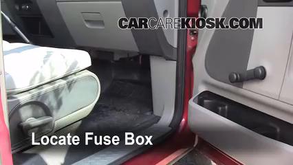 interior fuse box location: 2004-2008 ford f-150 - 2007 ford f-150 xl 4.2l  v6 standard cab pickup (2 door)  carcarekiosk