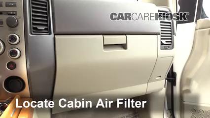 2007 Infiniti QX56 5.6L V8 Filtre à air (intérieur)