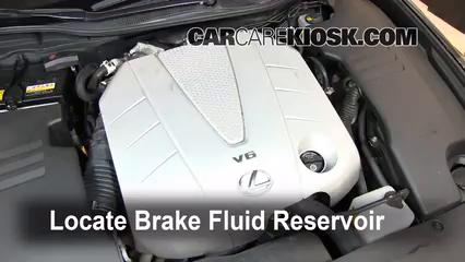 2007 Lexus GS350 3.5L V6 Brake Fluid