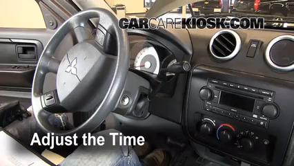 2007 Mitsubishi Raider LS 3.7L V6 Extended Cab Pickup Clock