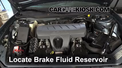 2007 Pontiac Grand Prix 3.8L V6 Brake Fluid Add Fluid
