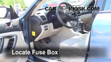 2007 Subaru Legacy 2.5i Special Edition 2.5L 4 Cyl. Sedan Fusible (interior)