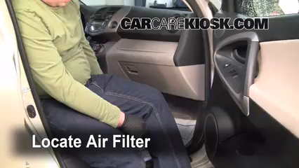 2007 Toyota RAV4 2.4L 4 Cyl. Filtro de aire (interior)
