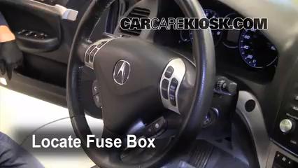 2008 Acura TSX 2.4L 4 Cyl.%2FFuse Interior Part 1 interior fuse box location 2004 2008 acura tsx 2008 acura tsx 2 4