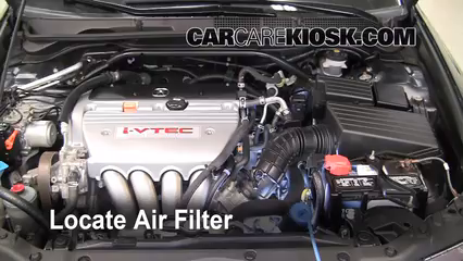 2008 Acura TSX 2.4L 4 Cyl. Air Filter (Engine) Check