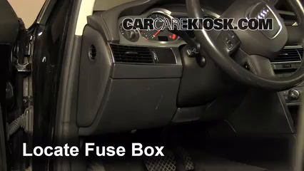 interior fuse box location: 2005-2011 audi a6 quattro