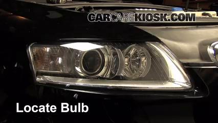2008 audi a6 3 2l v6 lights headlight (replace bulb)
