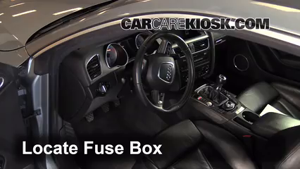 interior fuse box location 2008 2017 audi s5 2008 audi s5 4 2l v8 rh carcarekiosk com Layout for 1998 Audi A6 Quattro Fuse Panel Audi A4 Fuse Diagram