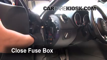 interior fuse box location: 2008-2015 audi tt quattro - 2008 audi tt  quattro 3 2l v6 coupe