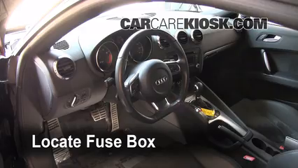 interior fuse box location 2008 2015 audi tt quattro 2008 audi tt 2004 Audi TT Convertible Review locate interior fuse box and remove cover