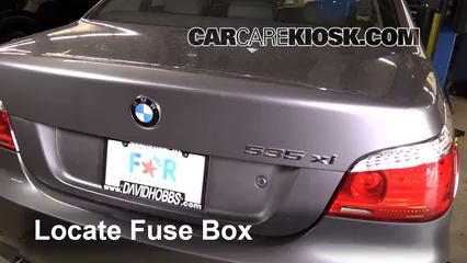 replace a fuse 2004 2010 bmw 535xi 2008 bmw 535xi 3 0l 6 cyl rh carcarekiosk com BMW Fuse Location 1999 BMW 528I Fuse Layout