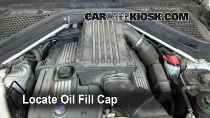 How to Add Oil BMW X5 (2007 2013)   2008 BMW X5 3.0si 3.0L 6 Cyl.
