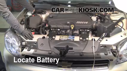 2008 Chevrolet Impala LT 3.5L V6 FlexFuel%2FBattery Locate Part 1 how to clean battery corrosion 2006 2016 chevrolet impala 2008  at soozxer.org