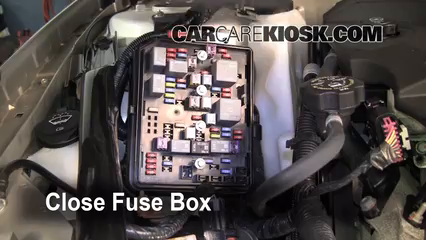 replace a fuse 2006 2016 chevrolet impala 2008 chevrolet impala 2005 Chevy Impala Fuse Box 6 replace cover secure the cover and test component