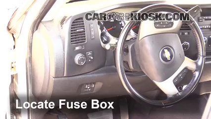 Interior Fuse Box Location: 2007-2014 Chevrolet Silverado 2500 HD