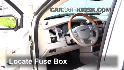 Interior Fuse Box Location: 2004-2008 Chrysler Pacifica