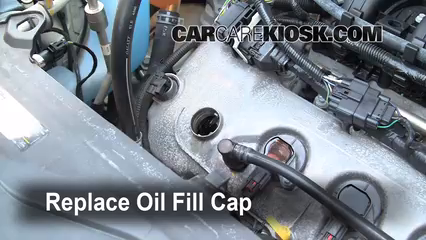 Secure The Oil Fill Cap Back In Place