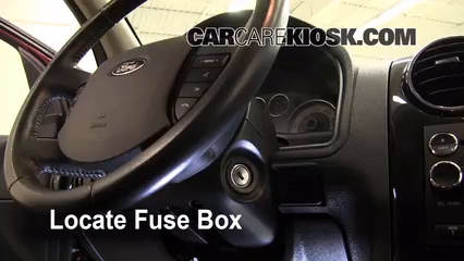 interior fuse box location: 2008-2009 ford taurus x - 2008 ford taurus x  limited 3.5l v6  carcarekiosk