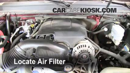 [DIAGRAM_38EU]  2007-2014 GMC Yukon Engine Air Filter Check - 2008 GMC Yukon Denali 6.2L V8 | 2007 Yukon Fuel Filter |  | CarCareKiosk