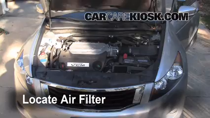 Air Filter How To 2008 2012 Honda Accord 2008 Honda Accord Ex L